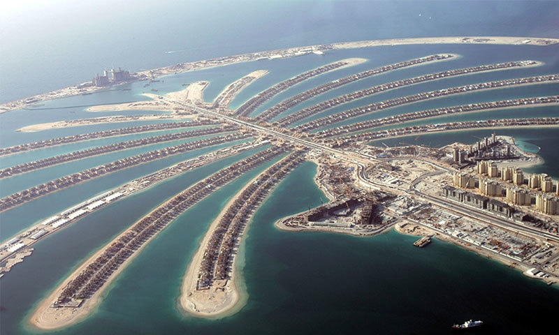 The properties in question include million-dollar villas on the fronds of the man-made Palm Jumeirah archipelago. Photo: AP/File