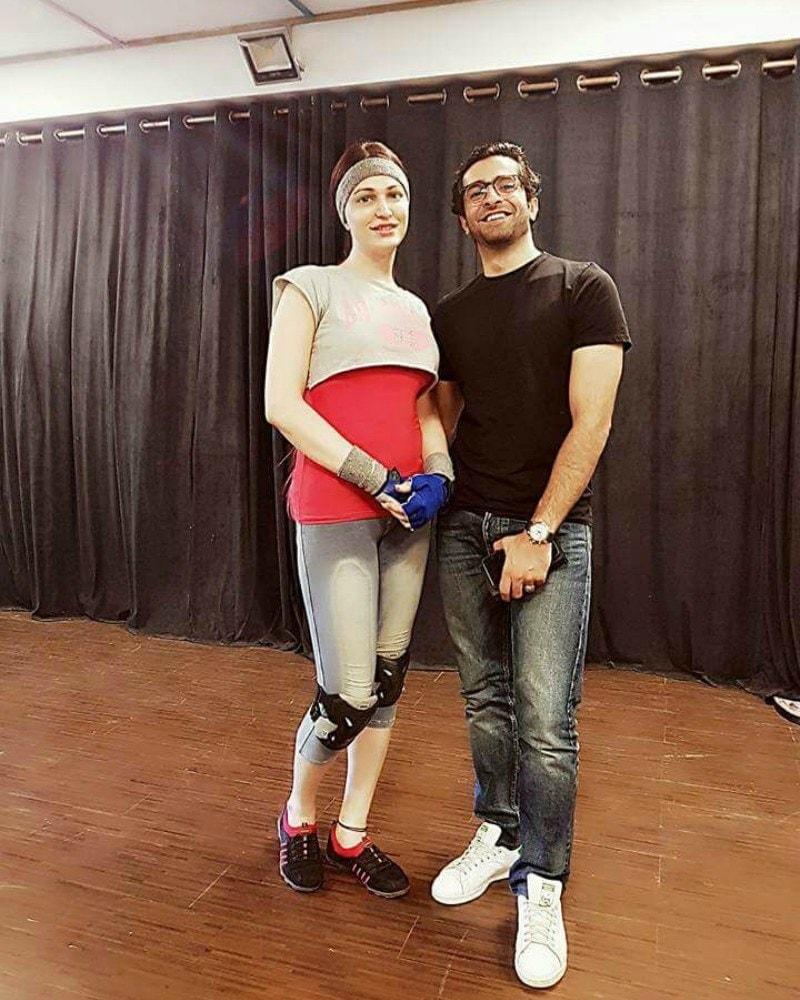 Rimal and Sheheryar during rehearsals