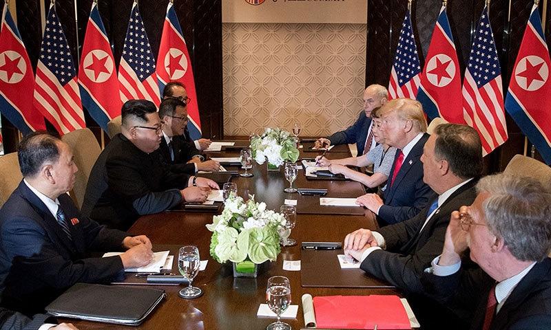 دونوں ممالک کے درمیان وفود کی صورت میں بھی ملاقات ہوئی—فوتو: اے ایف پی