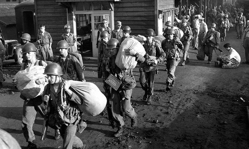 کوریا کی سرزمین پر 1950 سے 1953 تک جنگ لگ چکی ہے—فوٹو: اے پی