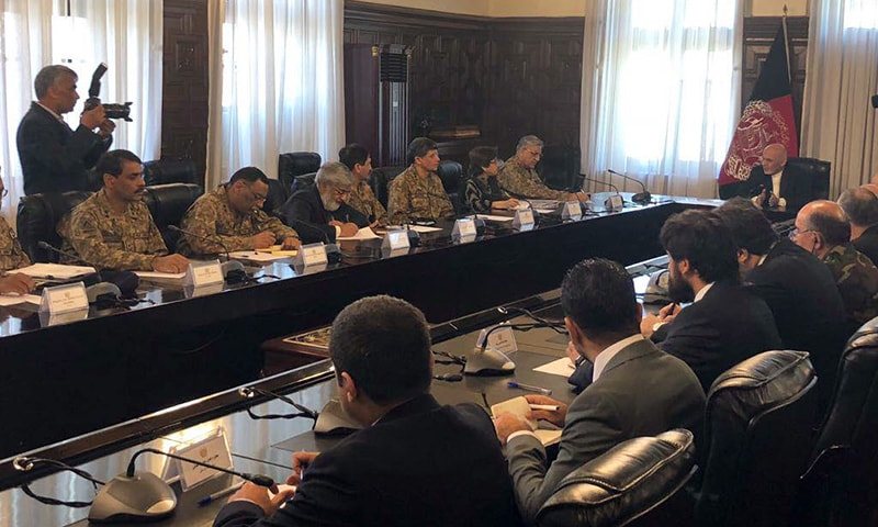 Delegation level talks between Afghanistan and Pakistan underway in Kabul. — Photo: ISPR