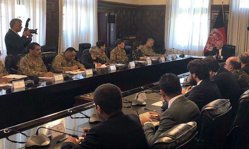 کابل میں دونوں ممالک کے وفود بات چیت کر رہے ہیں — فوٹو: آئی ایس پی آر