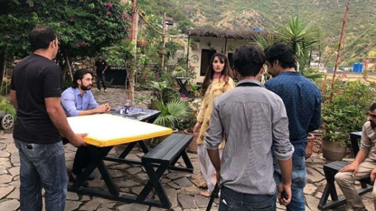 Islamabad shoot for Main Khayal Hoon Kisi Aur Ka