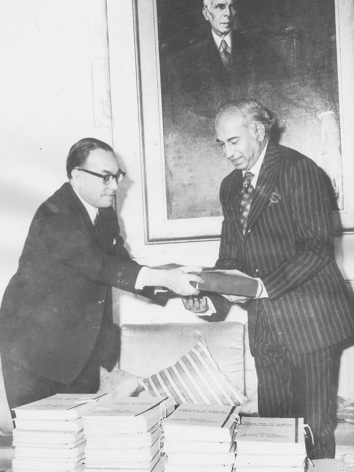 Justice Hamoodur Rahman (left) and Zulfikar Ali Bhutto | White Star