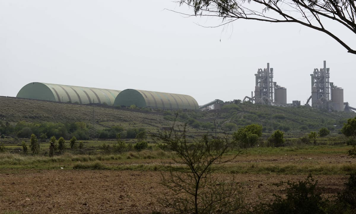 A cement factory in Punjab's Salt Range