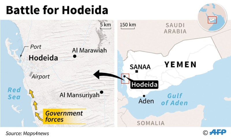 Timeline of Yemen's war as coalition attacks Hodeida