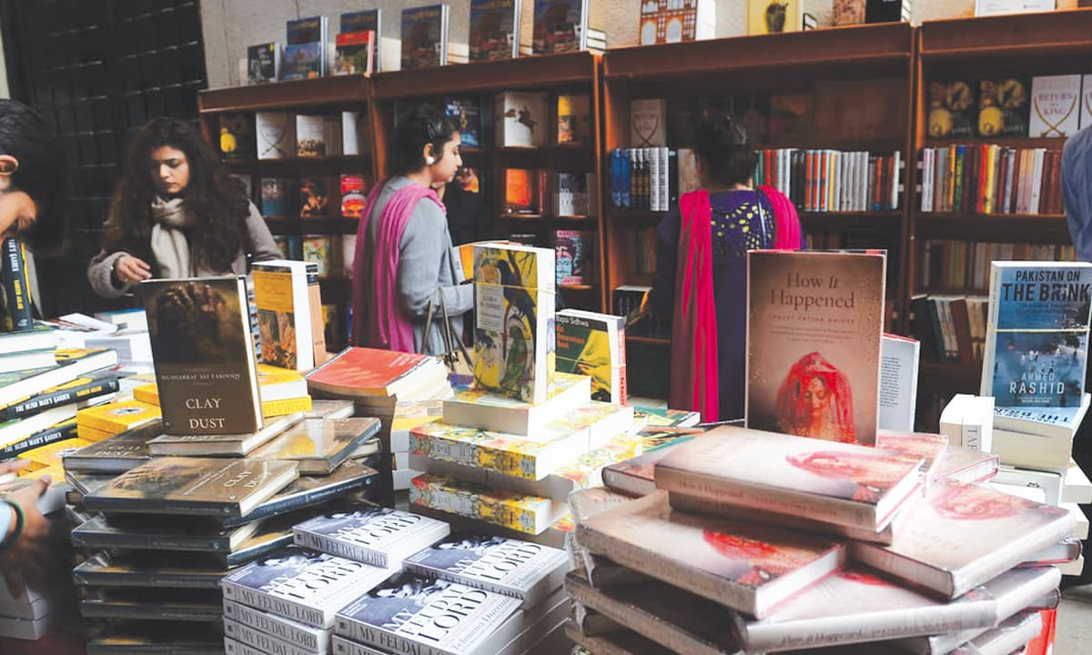 Pakistani fiction on sale at a bookstall | M Arif, White Star