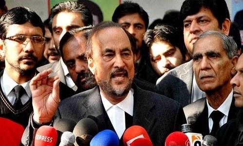 Caretaker set-up is partial to PML-N, alleges PTI leader Babar Awan