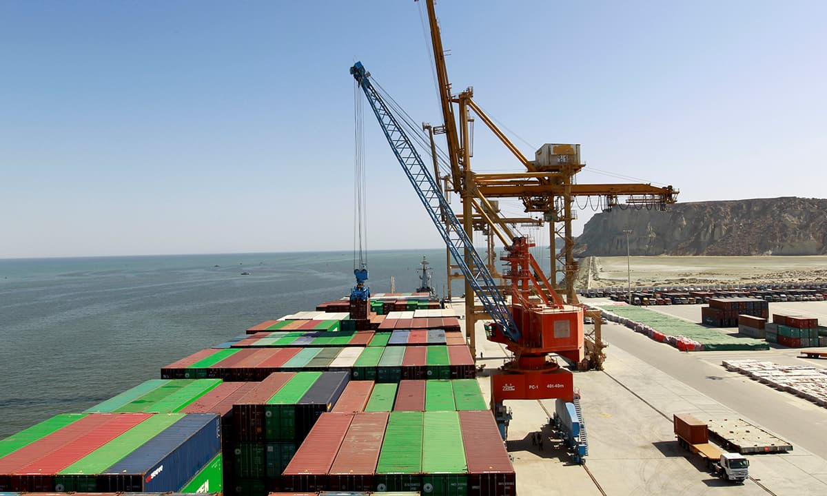 The first container ship to depart after the inauguration of the CPEC port in Gwadar | Reuters
