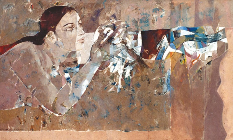 Woman And Pigeon (1981), Jamil Naqsh