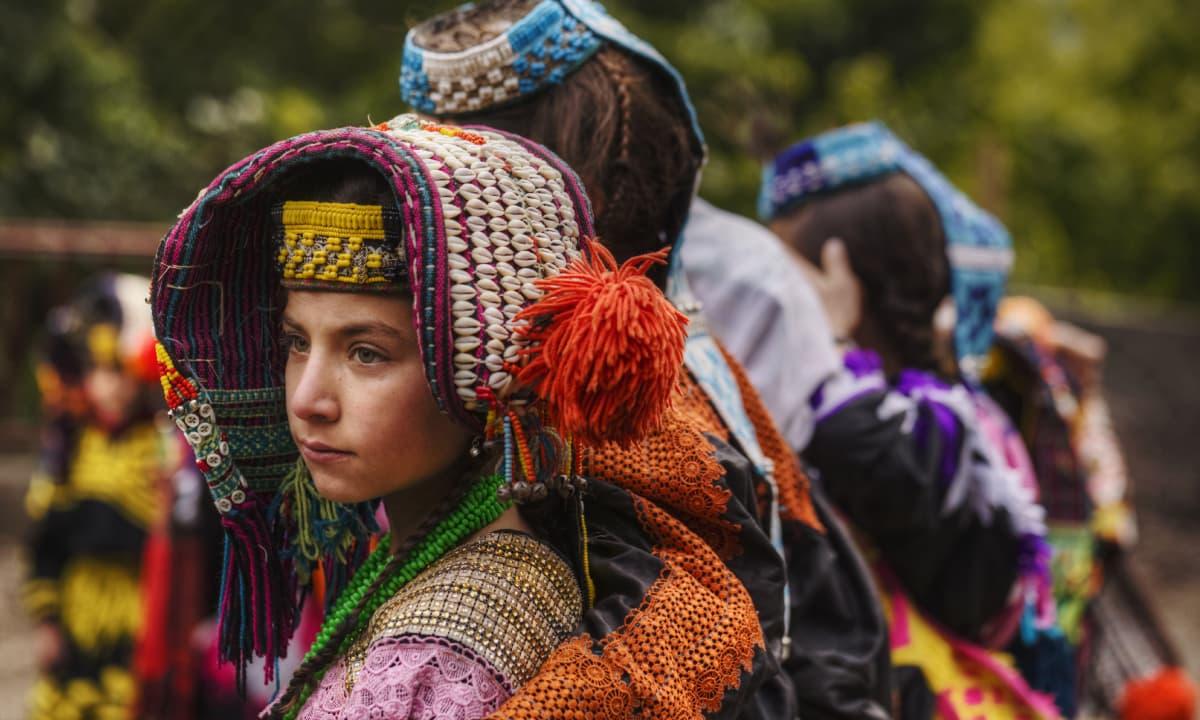 A Kalash girl at the festival