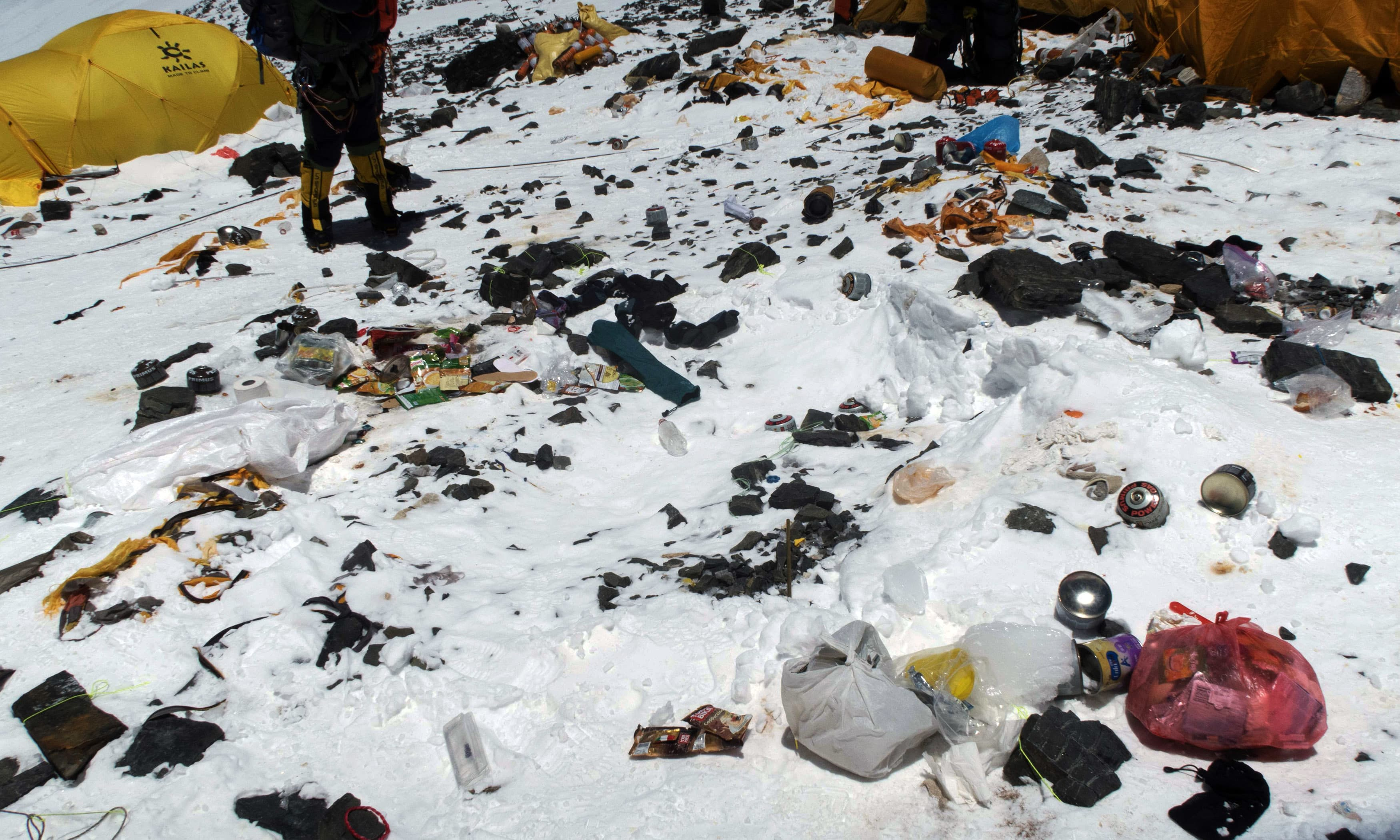 In 2017 climbers in Nepal brought down nearly 25 tonnes of trash and 15 tonnes of human waste. —AFP