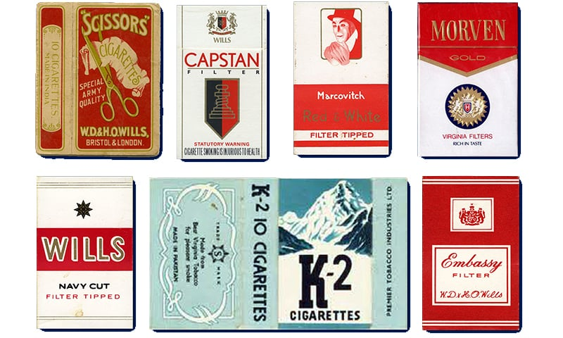 بچپن کے کچھ سگریٹ برانڈز