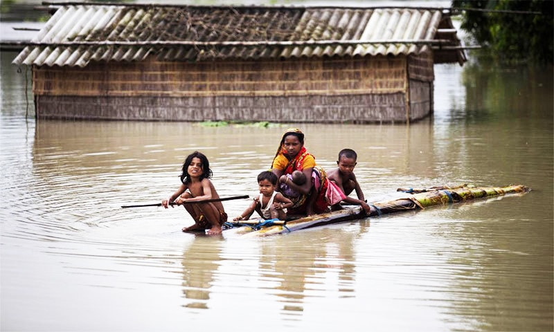 Floods kill over 30, displace one million in India, BD
