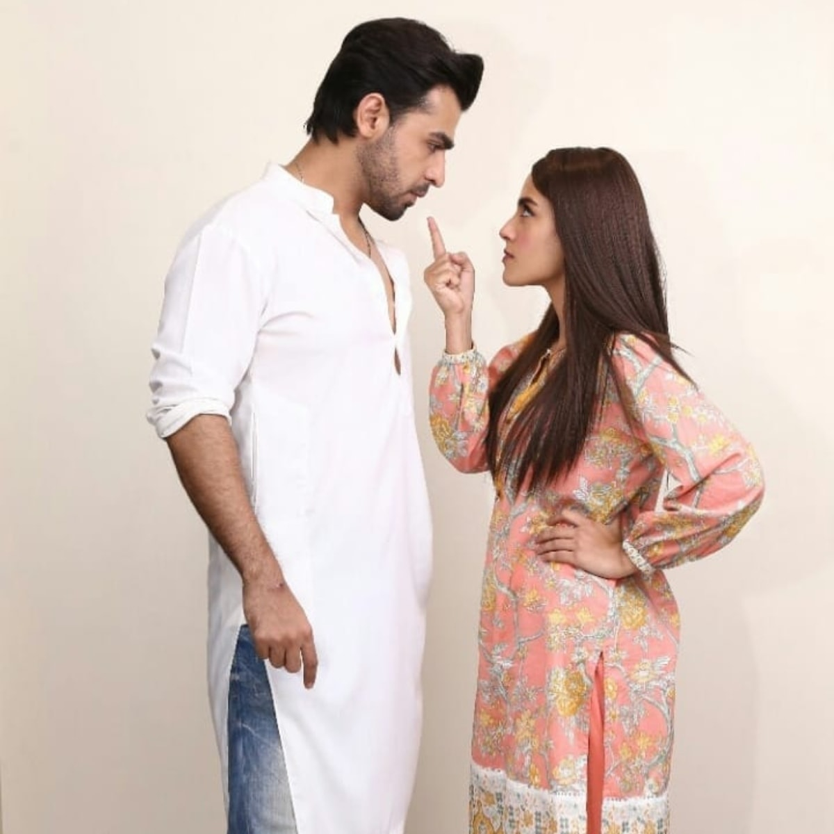 Farhan and Iqra as the warring cousins desperate to break the chains of wedlock
