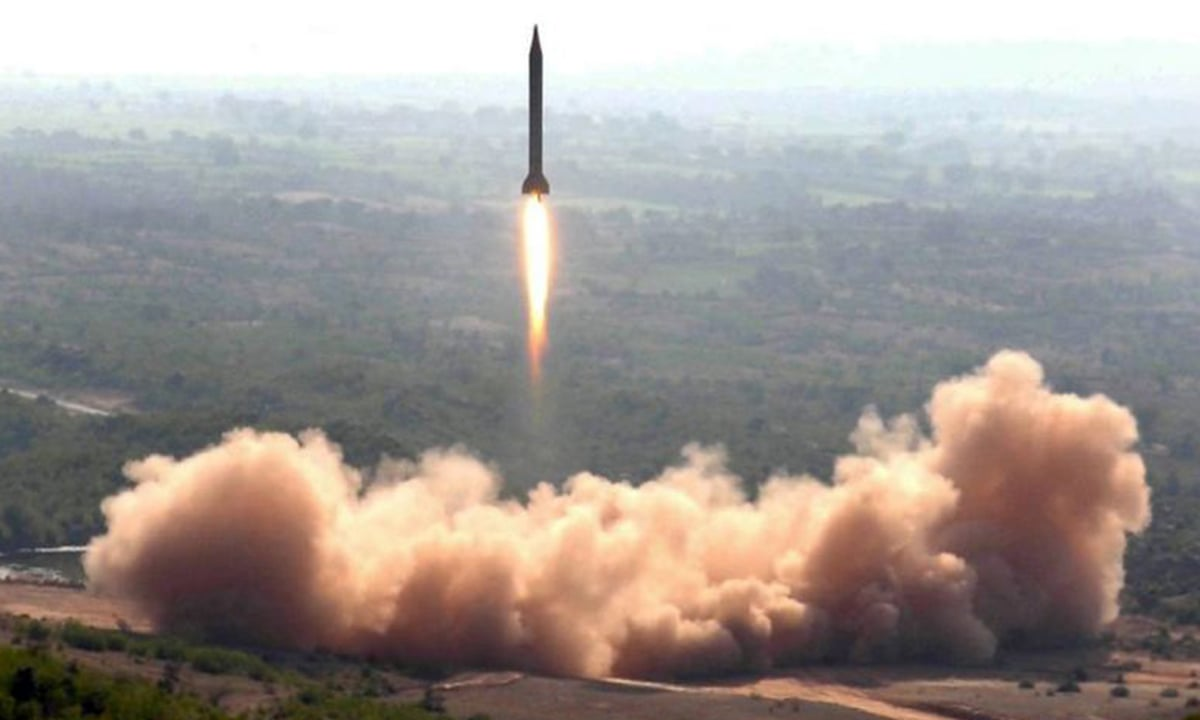 The Ghauri Ballistic Missile has a range of 1,300 kilometres | Inter Service Public Relations (ISPR)