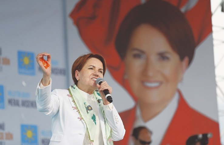 TURKEY's only female presidential candidate, Meral Aksener, is a former interior minister and deputy parliament speaker.—AP