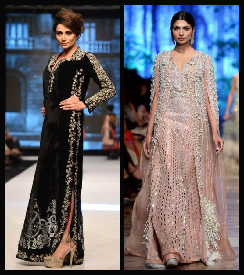 Nida Azwer and Sana Safinaz have embraced the kaftan trend