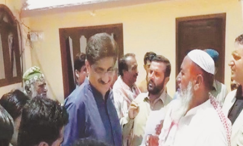 From left to right: PML-N's Jamal Leghari, former Sindh chief minister Murad Ali Shah and Sardar Saleem Jan Mazari face public grilling in their respective constituencies.—Online