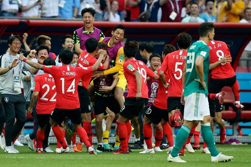 جنوبی کوریا عالمی کپ میں جرمنی کو شکست دینے والی پہلی ایشیائی ٹیم ہے—آن لائن