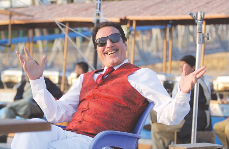 In 7DMI, Jawed Sheikh plays a good-looking djinn who changes get-ups and makes life miserable for the protagonist Tipu | Dawn Films