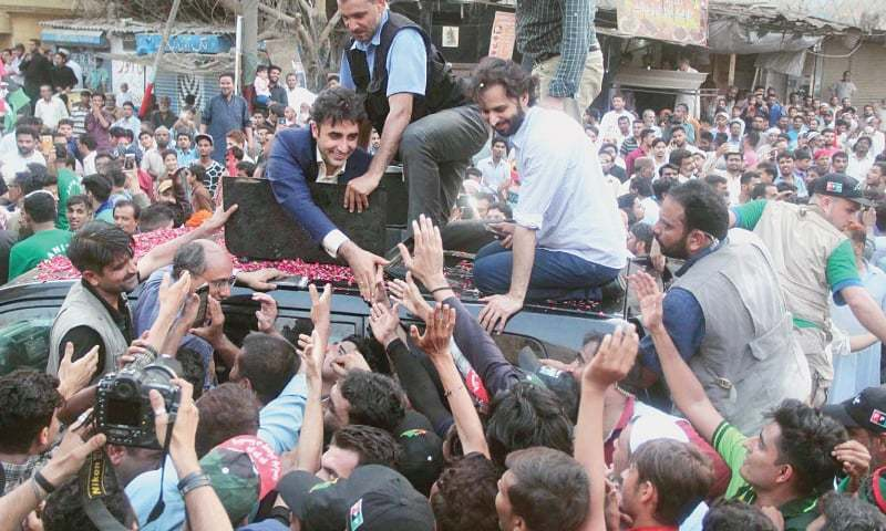 Lyari 'protesters' booked under terror law in Bilawal rally attack case