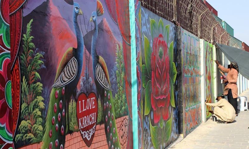 Reimagining the Walls of Karachi, Walls of Peace Project by I AM Karachi