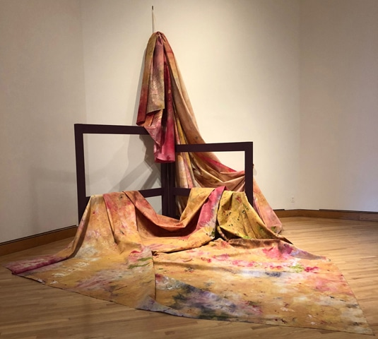 An artwork by Sam Gilliam recently acquired by Williams College Museum of Art | Katya Kazakina/Bloomberg