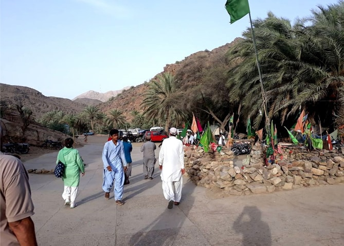 A view of Shah Noorani: an oasis among an arid land
