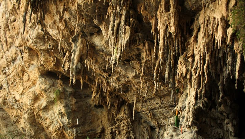 Limestone stalactites in the Lahoot cave