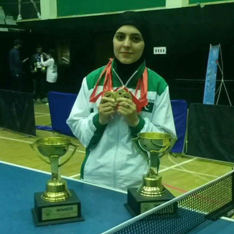 Pakistan's table tennis star Iqra Rehman, who hails from Chitral, is now helping other girls take up the game.