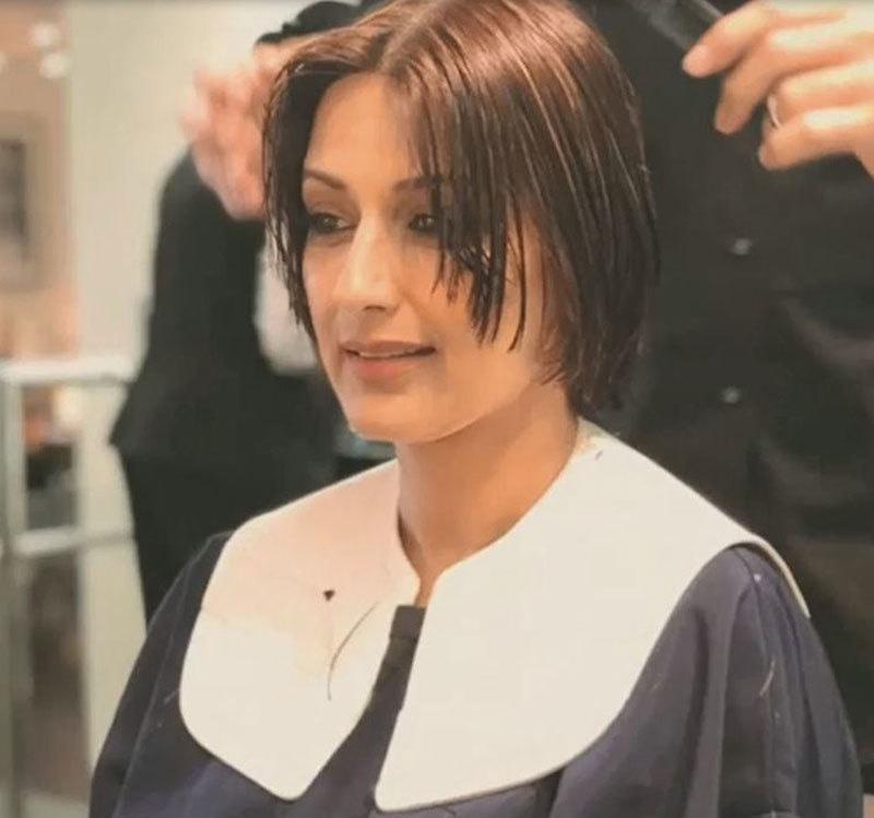 اداکارہ نے 10 جولائی 2018 کو بال چھوٹے کروانے کی تصویر بھی شیئر کی تھی—اسکرین شاٹ