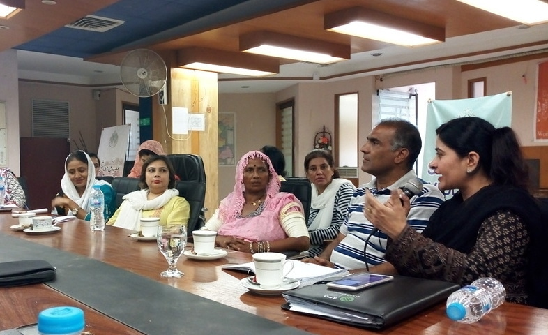 Women candidates from minorities discuss issues they are facing in electoral race. - Photo by author