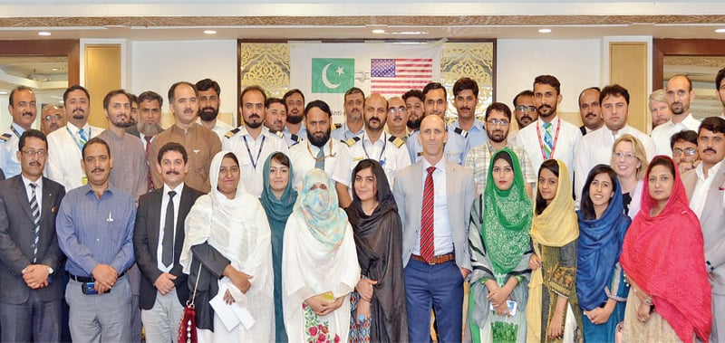 Participants of the seminar held in Peshawar on Wednesday.