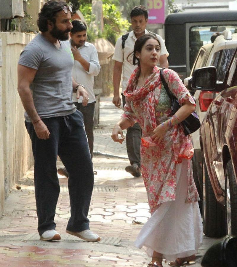 سیف علی خان کی بیٹی کیدر ناتھ اور سمبا جیسی فلموں کی شوٹنگ میں مصروف ہیں—فوٹو: این ڈی ٹی وی