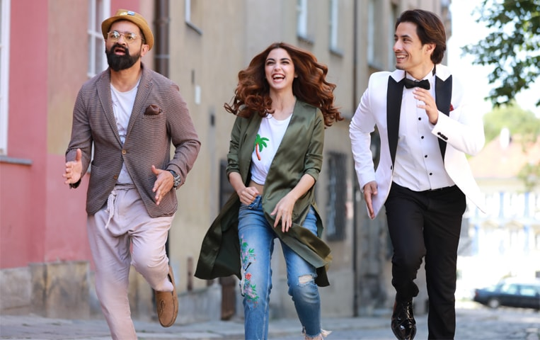 In her last scene shot in Poland, Maya, Ali Zafar and Faisal Qureshi had to run but when the director said action, she got cramps in both her legs and couldn't move