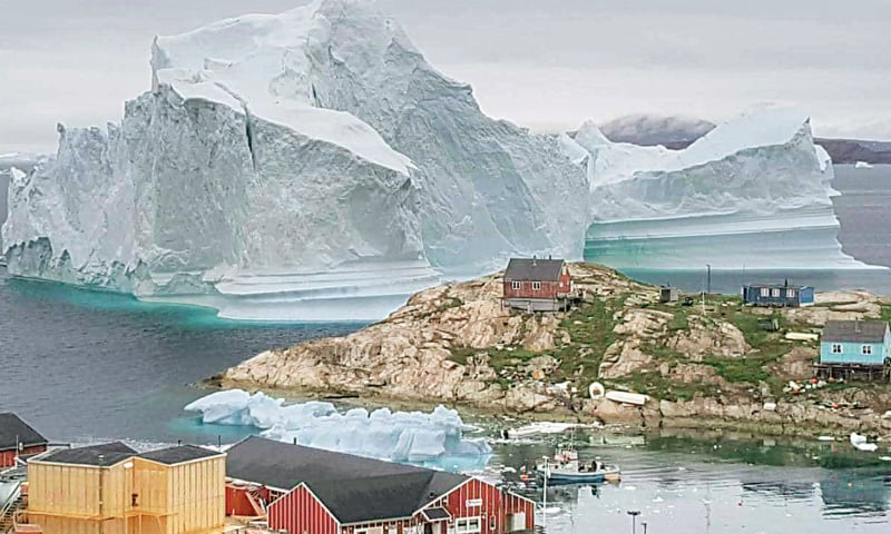 Huge iceberg off Greenland sparks fears of tsunami