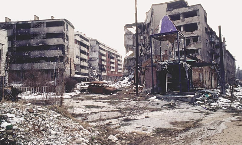 SARAJEVO was besieged for four years during the Bosnian War, with many districts left in ruins.