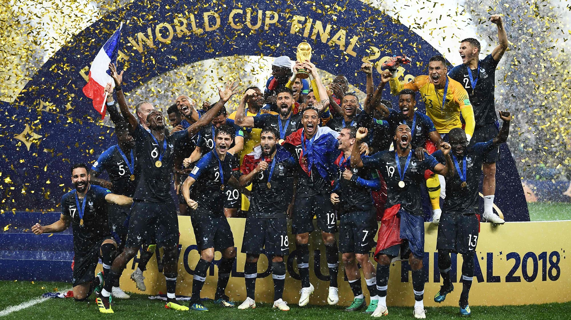 2c223b60a In pictures  Celebrations as France win second World Cup after Moscow  thriller