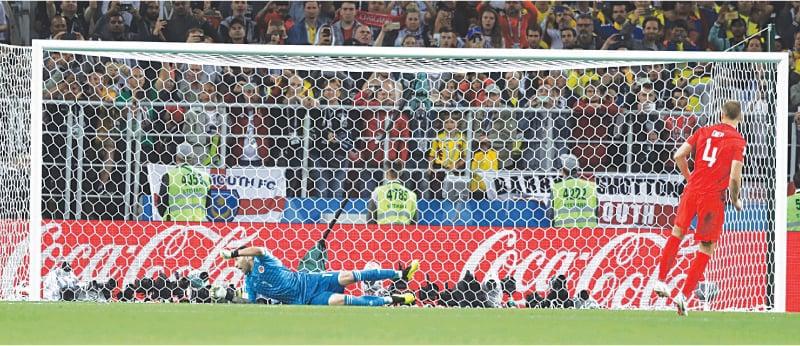 پری کوارٹر فائنل میچ میں انگلینڈ کو کولمبیا کے خلاف پینلٹی شوٹ آؤٹ میں کامیابی حاصل ہوئی