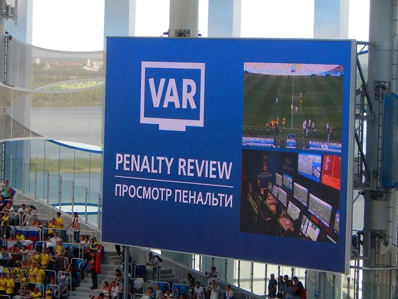 2018ء کے ورلڈ کپ میں 'وڈیو اسسٹنٹ ریفریز' VAR ٹیکنالوجی متعارف کروائی گئی