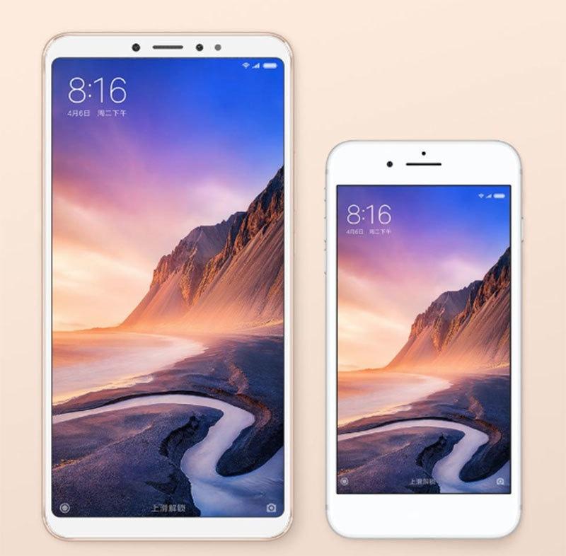 می میکس تھری ایک 4.7 انچ اسکرین والے فون کے ساتھ— فوٹو بشکریہ شیاؤمی