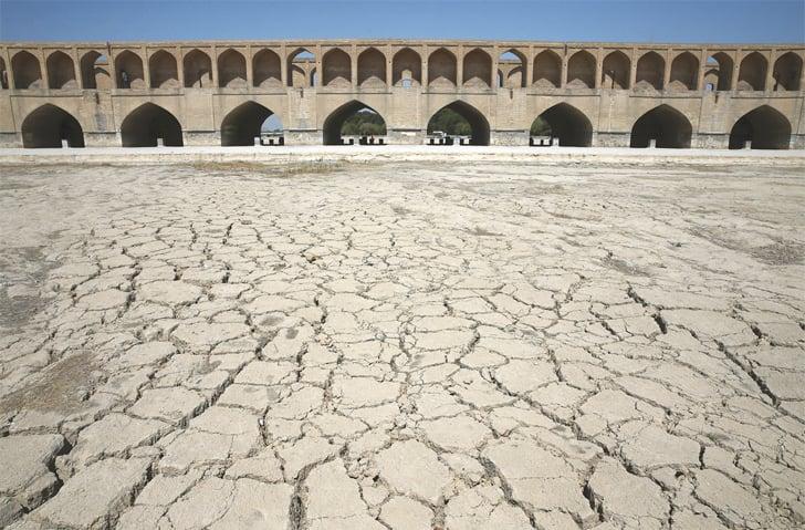 THE River Zayandeh Roud no longer runs under the 400-year-old Si-o-Seh Pol bridge in Isfahan, Iran.—AP