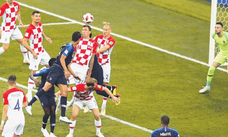 Mario Mandzukic scores own goal against France in the final
