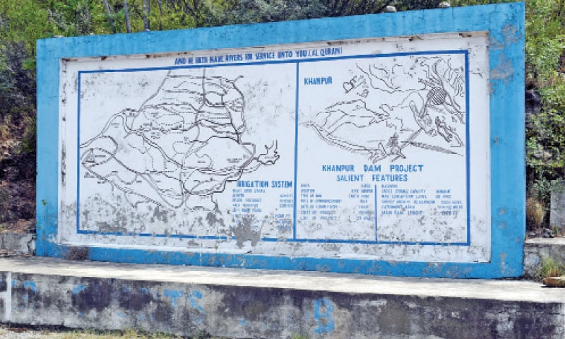 The layout plan of Khanpur Dam. — Photos by the writer