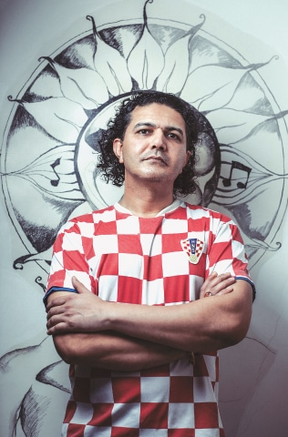 """I'm a full Croatian and I'm a full Pakistani. I don't like any of this 'half' business."" Arieb Azhar's signature shirt is of the Croatian national football team. According to the him, no one recognised it until the recently-concluded FIFA World Cup final between Croatia and France"