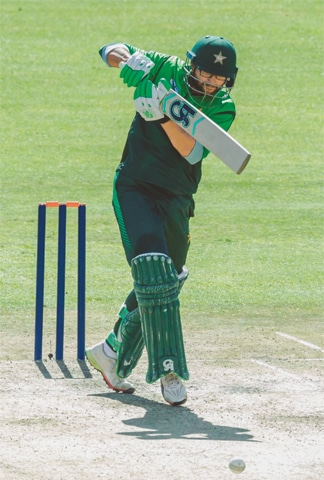 IMAM-UL-HAQ drives during his century knock.—AFP