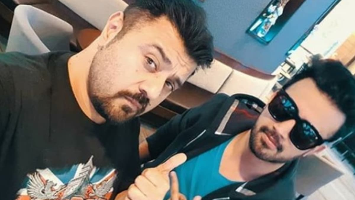 Ahmad Ali Butt and Atif Aslam during rehearsals in Toronto