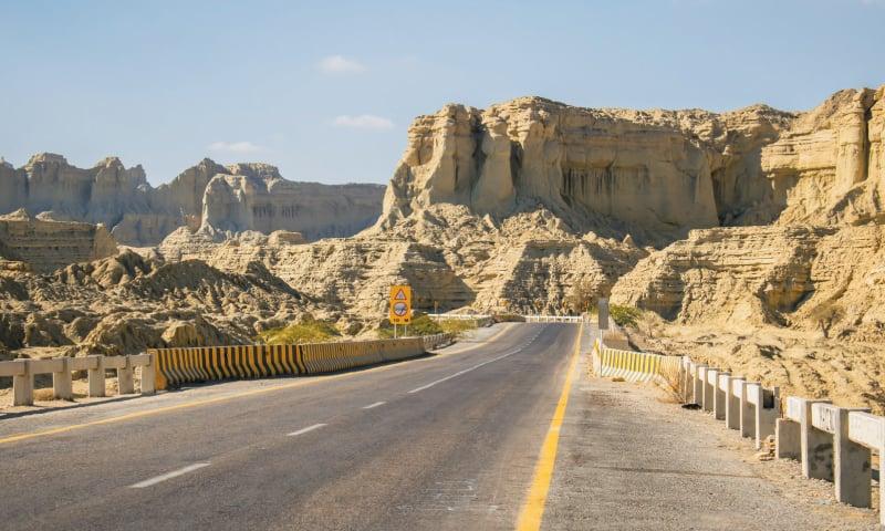 The Makran Coastal Highway leading to Ormara