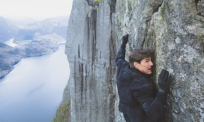 TOM Cruise, who famously insists on doing his own stunts, as superspy Ethan Hunt.—The Washington Post